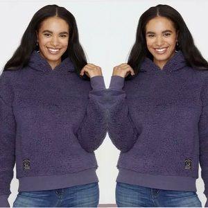 Ivory Ella Sherpa Pull Over Sweatshirt Small